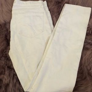 J Brand White Skinny Straight Leg Jeans Size 27